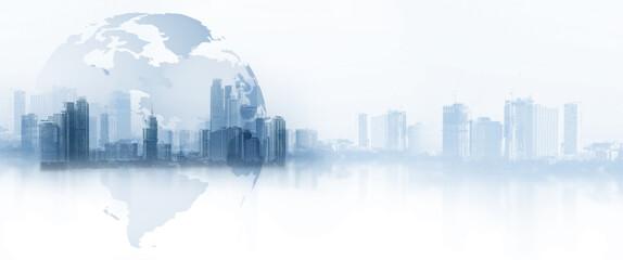 Obraz The world logistics, there are world map background - fototapety do salonu