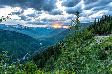 Sunset From Going to the Sun Road