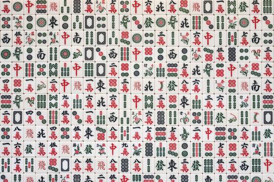 stacked mahjong tiles background