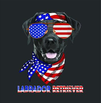 American Flag s Labrador Retriever Dog Lover Gifts design vector new
