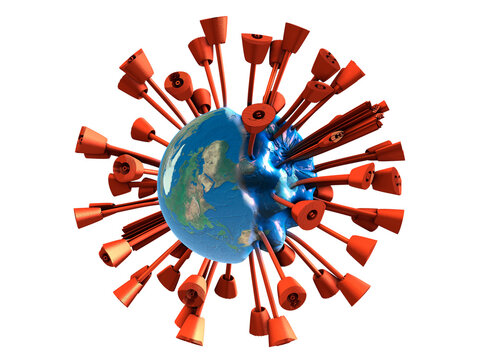 Globe, the whole earth is fighting the COVID-19 virus