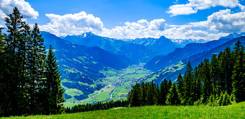 Wall Mural - landscape at the zillertal in austria