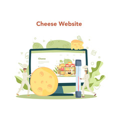 Cheese maker online service or platform. Professional chef making