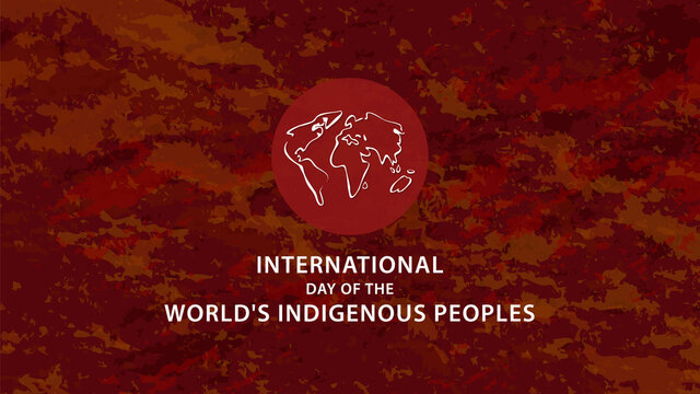 International Day of the World's Indigenous Peoples. Vector illustration
