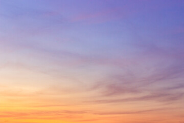 Fototapeta sunset sky with clouds