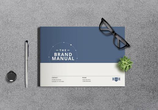 Minimalist Brand Identity Brochure Layout