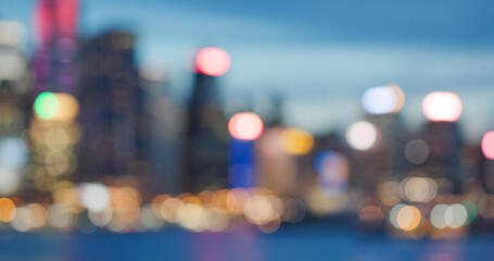 Wall Mural - Bokeh of the city night view