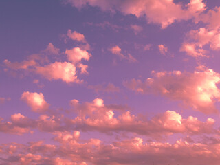 Wall Murals Candy pink Amazing cloudscape on the sky at day time, over the city in summer days
