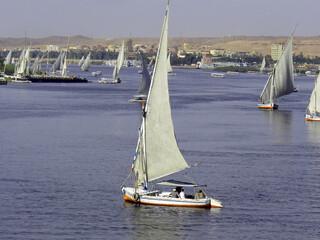 Egypte, bateaux sur le Nil