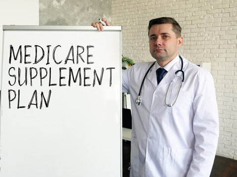 The doctor talks about medicare supplement plan.