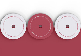 Top View of Three DVDs Mockup