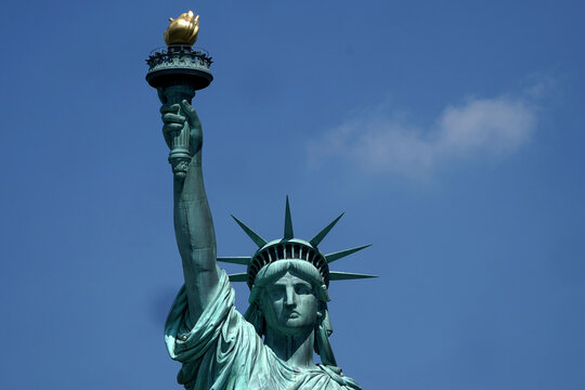 The Statue of Liberty is pictured as New York enters Phase 4 of reopening following the outbreak of Coronavirus disease (COVID-19) in New York City