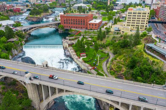 bridge over the spokane river