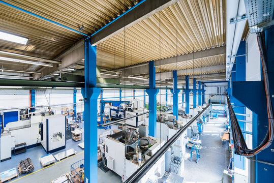 Machinery in factory shop floor