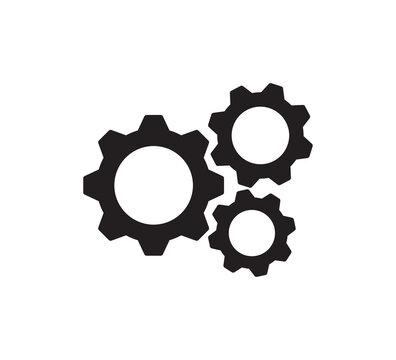 Gear icon vector logo design template