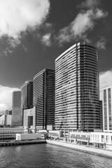 Fototapete - Modern office building in downtown of Hong Kong city
