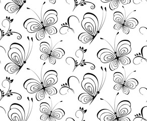 Printed roller blinds Pattern seamless pattern with butterflies