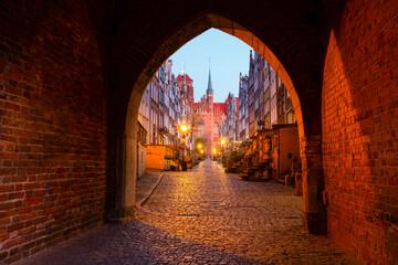 Malownicza uliczka w Gdańsku, Mariacka