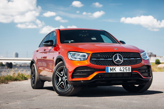 Mercedes- Benz GLA 2020 AMG at the parking near river