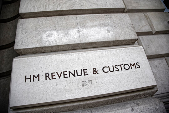 London, England - August 8, 2010: HM Revenue & Customs Building, Parliament Street, London, Britain, The department is responsible for the collection of taxes in the United Kindom.