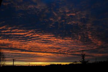 Fototapeta Czerwony wschód słońca obraz