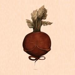 Illustration of beet doing yoga