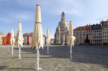 Neumarkt Dresden im Lockdown