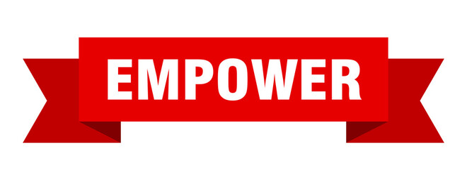 empower ribbon. empower paper band banner sign