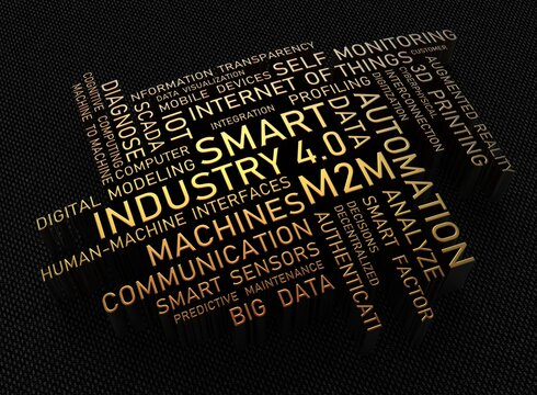 industry 4.0 (industrial revolution v4) - cloud tag