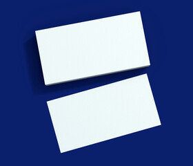 Blank business card 3d rendering