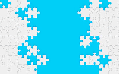 Blue puzzle background 3d rendering