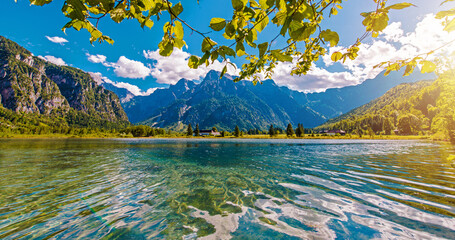 Wall Mural - Scenic Austrian Almtal Valley Almsee Lake
