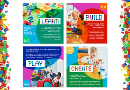 Kindergarten Post Social Media Layout