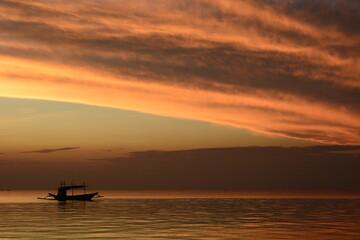 Dusk colours. Boracay Island. Aklan. Western Visayas. Philippines