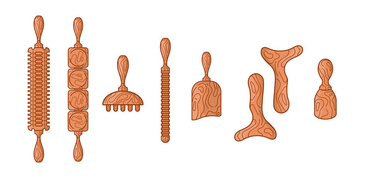 BODY KIT, MADEROTHERAPY, MASSAGE ICONS