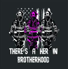 Female Firefighter Women Brotherhood new design vector illustrator