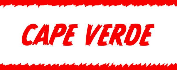 Foto auf Acrylglas Rot web Label Sticker Cape Verde
