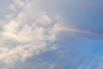 Rainbow in the sky after the rain.