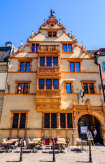 Colmar, France - July 9: famous old town with historic halftimbered facades in colmar on July 9, 2020