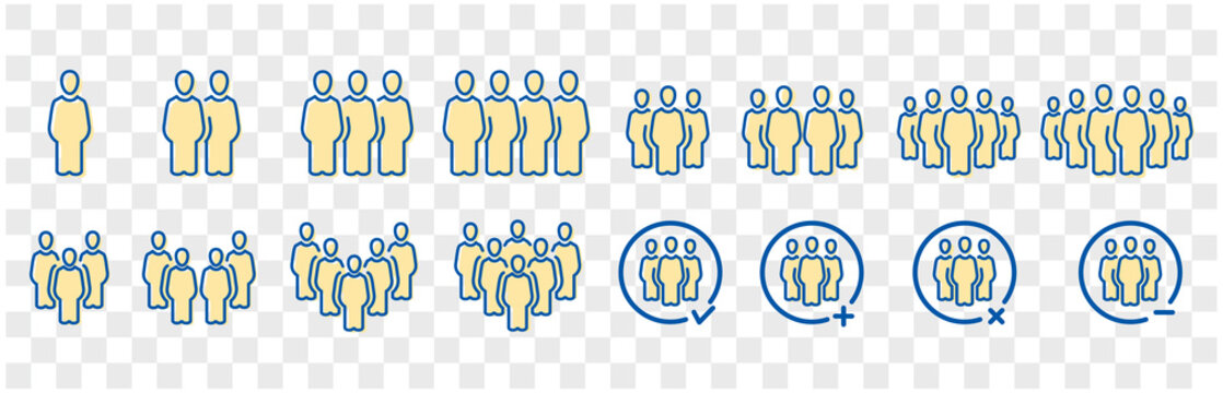 people and population icon set,vector and illustration