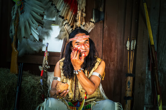 portrait of Americans Indian man .