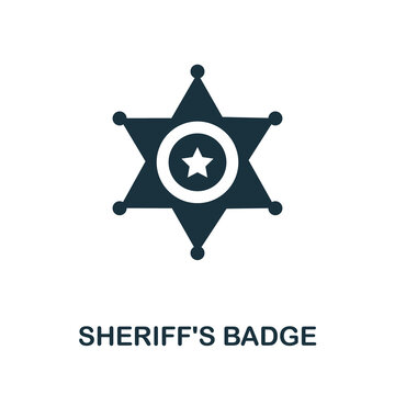 Sheriff'S Badge icon. Simple element from police collection. Creative Sheriff'S Badge icon for web design, templates, infographics and more