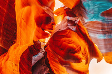 Photo sur Aluminium Rouge mauve Antelope Canyon is a slot canyon in the American Southwest.