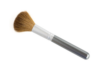 Makeup brush isolated on white background, beauty concept