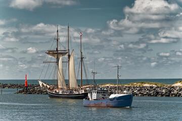 Hvide Sande Harbor at the Danish North Sea Westcoast, Denmark