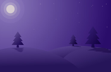christmas night landscape