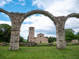 San Vincenzo al Volturno is a historic Benedictine monastery, Castel San Vincenzo and Rocchetta a Volturno, Isernia, Molise, Italy
