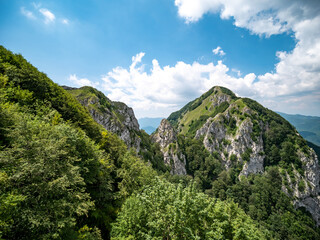 the top of mount Accellica. Picentini Natural Park, Giffoni Valle Piana, Campania, Salerno, Italy