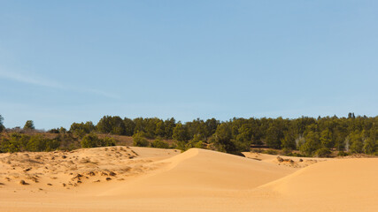Sand Dunes  and blue sky in Vietnam's Mui Ne