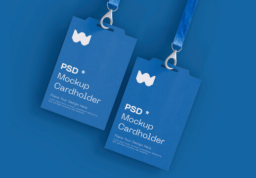 Set of Two Badge Identity Cards Mockup
